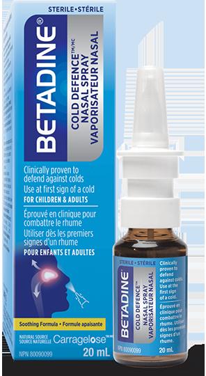 BETADINE® Cold Defence en vaporisateur nasal